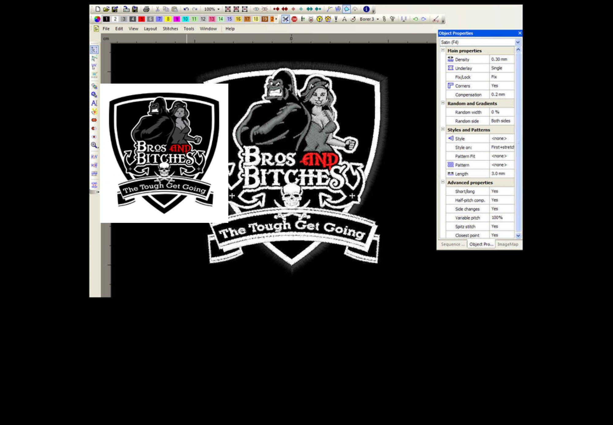 Logo Digitaliseren, Vectoriseren, Punchen / Borduurkaart maken.